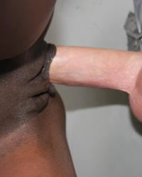 Ana Foxxx - Sexy black girl visits the restroom and gets more than she bargained for