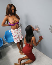 Jezabel Vessir & Sarah Banks Teens Interracial