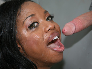 Nikita Blade Black Slut Sucking Cock