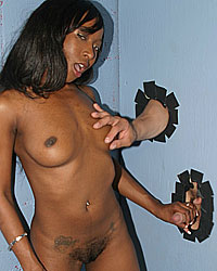 Stacy Cash - Black girl sucks white dick interracial gloryhole